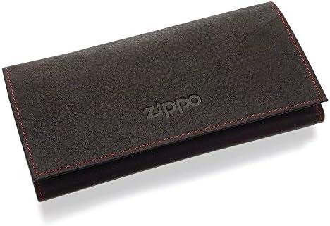 Zippo 2005130 - Funda para papel de tabaco (tres pliegues, piel sintética), color marrón: Amazon.es: Joyería