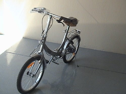 Folding Bike 20 Inchces Color SILVER by BESTCO PRODUCTS (Image #1)