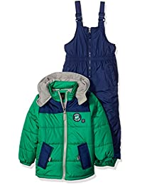 iXtreme Little Boys' Colorblock With Canvas Yoke Snowsuit, Green, 2T