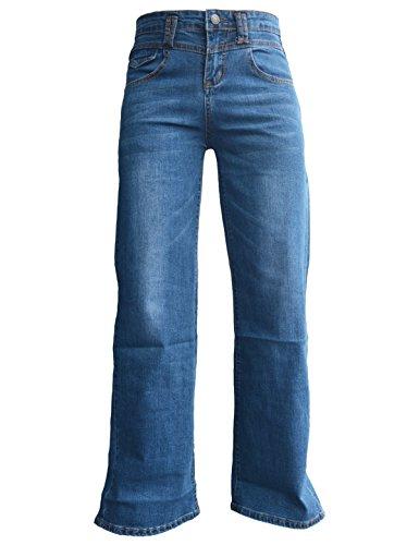 Bootcut Trousers Cotton (PHOENISING Women's Stylish Wide Leg Jeans Sexy Business Fashion Pants Wide Leg Trousers,Size 2-16)