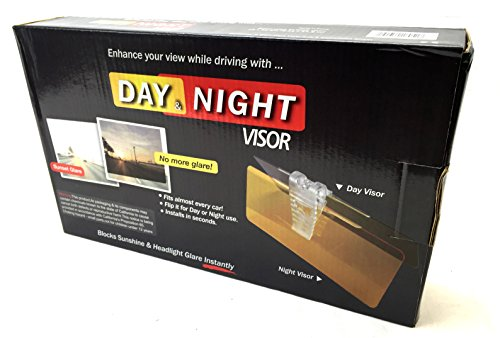 LavoHome Clearview HD Day and Night Anti Glare Visor - Beat Daylight Headlight Rainy Day GlareRetail - Clear Sunset Visor