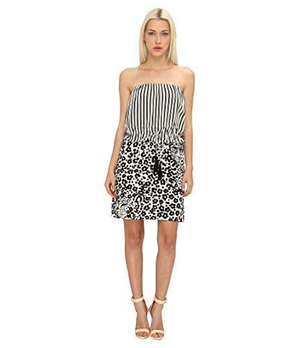 See by Chloe Women's S/L Dress w/Tied Waistband, Ecorce/Ecru 44 (US ()