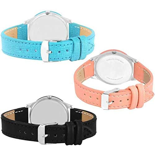 41HcEOoaOYL. SS500  - Acnos Special Super Quality Analog Watches Combo Look Like Preety for Girls and Womne Pack of - 3(605-BLK-ORG-SKY)