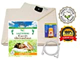 Earthing Half Sheet Queen with Grounding Cord & OUTLET TESTER - Organic cotton • Anti Microbial - EMF Protection & Anti-Radiation Shield for Better Sleep, Reduce Pain & Inflammation – EMF Neutralizer