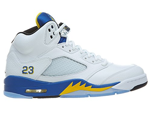 Nike Mens Air Jordan 5 Retro Laney Läder Basket-skor