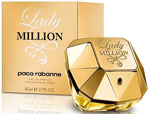 Lady Million by Paco Rabanne Eau De Parfum Spray 2.7 Fl Oz (Women), Pack of 1 ()