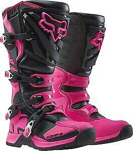 2018 Fox Racing Womens Comp 5 Boots-Black/Pink-8 (Pink Riding Boots For Women)