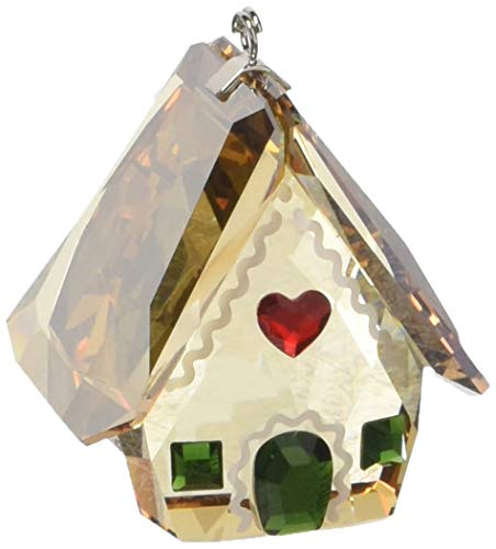 Swarovski Gingerbread House Ornament, Amber/Green/Red Crystal ()