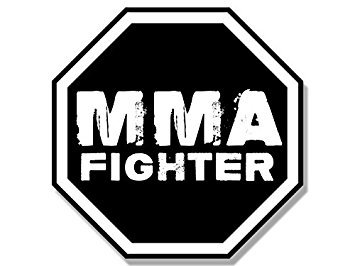 Octagon Shaped Magnet - MAGNET Octagon Shaped MMA FIGHTER Magnet(martial arts fight ufc) 4 x 4 inch