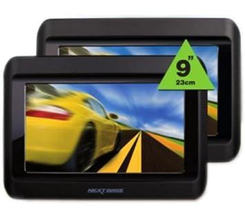 NEXTBASE Reproductor de DVD Click 9 Lite Duo + Cascos infrarrojos + Kit DVD portátil Funda