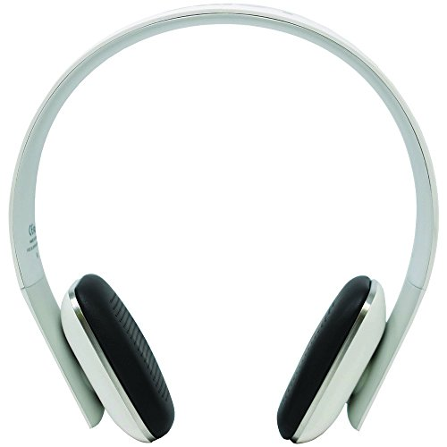Leme EB20A Wireless Ergonomic Bluetooth 4.0 Over Ear Headphone with Built-in Mic and 12 Hour Battery, with Noise Reduction and Echo Cancellation, Perfect Headset for Gaming and Music (White)