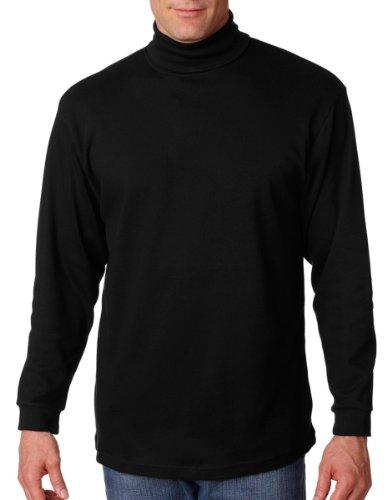 Mens Interlock Turtleneck Cotton (UltraClub Men's Adult Egyptian Interlock Long-Sleeve Turtleneck - X-Large- Black)