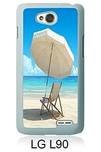 Beach White New Cool Custom Design LG L90 Cover Case