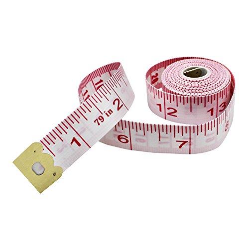 Cinta métrica de 200 cm, cinta suave de doble escala para medir la pérdida de peso corporal, medición médica, costura,...