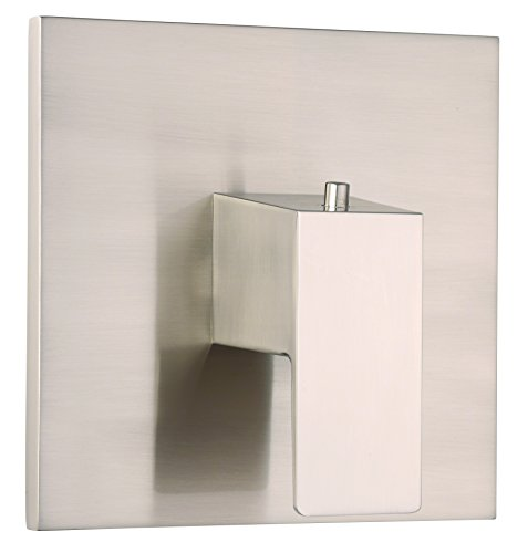Danze D562062BNT Mid-Town Single Handle 3/4-Inch Thermostatic Shower Valve Trim Kit, Valve Not Included, Brushed Nickel