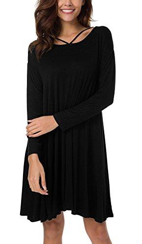 black strappy t shirt dress - 6