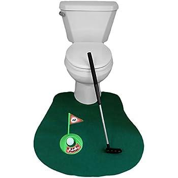 Amazon Com Ez Drinker Toilet Golf Putter Practice In
