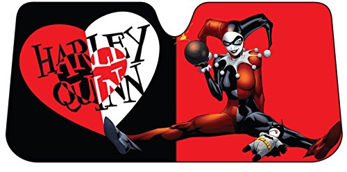 Plasticolor 003693R01 Warner Bros. Harley Quinn Heart Accordion Sunshade (Harley Sun Shade)