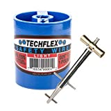 Clamptite Kit - CLT01 - 4 3/4'' Stainless Steel Tool w/ Aluminum Bronze T-Bar Nut + 600 ft/ 1lb. Can of .025 Safety Wire