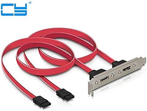 Cable Length: 50cm Cables 2Ports SATA II Internal to eSATA II External PCI Bracket SATA Extension Cable 50CM