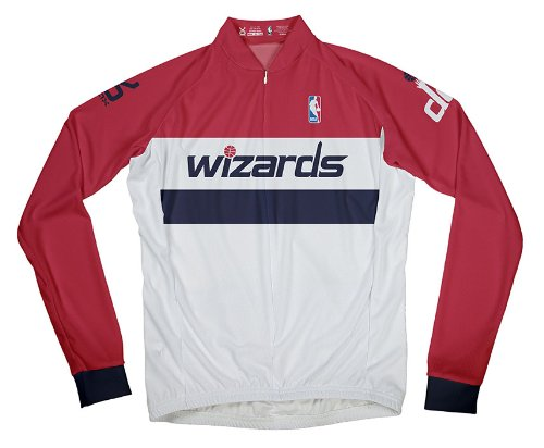 NBA Washington Wizards Men's Long Sleeve Cycling Home Jersey, Medium, White (Washington Jersey State Cycling)