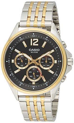 Casio Enticer Analog Black Dial Men #39;s Watch   MTP E303SG 1AVDF  A959