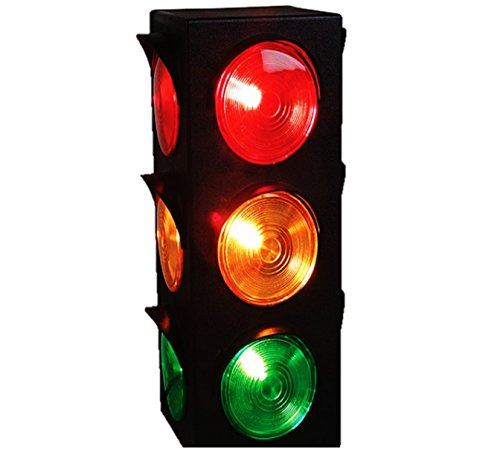Stop Light Lamp - Play Kreative Light Up Traffic Stop Lamp - For Traffic Decorations, Celebrations and parties