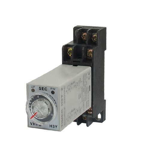 AC 220V 8P DPDT 0-10Seconds Timer Delay Time Relay H3Y-2 w Base Socket