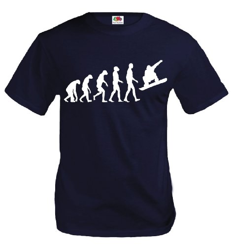T-Shirt The Evolution of snowboarding-L-Navy-White