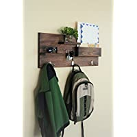 Coat Hooks and Key Hooks Entryway Organizer with Floating Shelves and Mail Storage