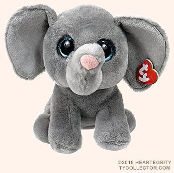 Ty Classic Beanies TY Classic Plush -TY Classic Plush - WHOPPER the Grey Elephant (13 inch from tail) 25cm Medium Buddy Size 9'' … by T&Y (Image #3)