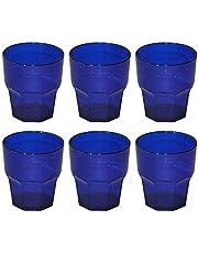 Omada Design Set di 6 Bicchieri in Plastica, 30 cl, Ideali per Bibite o Long Drink, Lavabili in Lavastoviglie, Made in Italy, Impilabili, Linea Unglassy