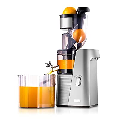 "SKG Cold Press Juicer High Yield Juice Extractor, Quiet Anti-Oxidation Easy to Clean 36 RPM 250W AC Motor & Large 3.15""Turn Over Wide Mouth the Best Fruit and Vegetable Slow Masticating Juicer"