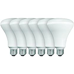BR30 Recessed LED Flood Light Bulbs, 65 Watt Equivalent, Non-dimmable, Soft White, Value 6-pack