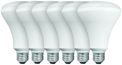 Floodlight Compact Fluorescent Light Bulb - BR30 Recessed LED Flood Light Bulbs, 65 Watt Equivalent, Non-dimmable, Soft White, Value 6-pack