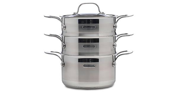 Amazon.com: DeLonghi Modelo os-02 Triple Steamer sartenes ...