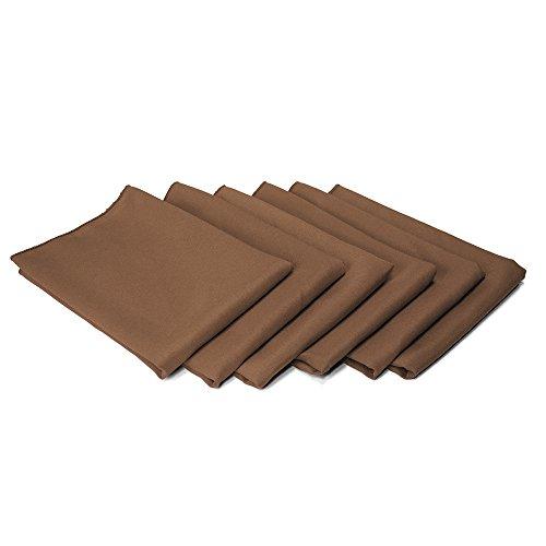 TableLinensforLess 17 x 17-Inch Cloth Napkin - 6 Pack (Chocolate Brown) (Chocolate Brown Napkins Dinner)
