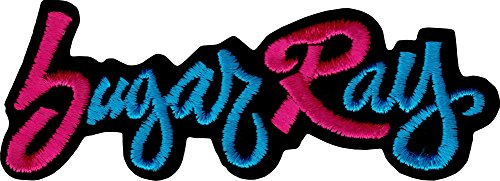 Sugar Ray Pink & Blue Logo Iron Sew On Patch / - Ray Logo Bands