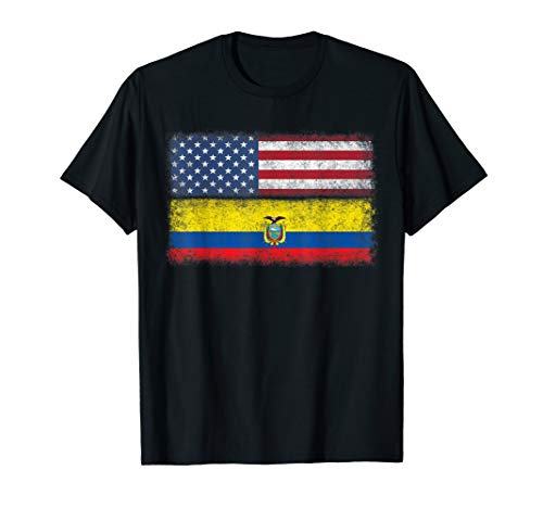 Ecuadorian American Flag T-shirt Ecuador Pride Heritage