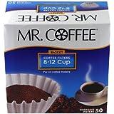 [ミスターコーヒー] Mr. Coffee バスケットスタイル コーヒーフィルター 8-12カップ 高品質 ホワイトペーパー 50枚入り Made In USA 【並行輸入品】