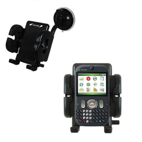 (Windshield Vehicle Mount Cradle suitable for the HTC CDMA PDA Phone - Flexible Gooseneck Holder with Suction Cup for Car / Auto.)