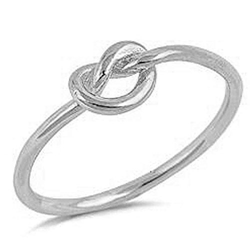 Oxford Diamond Co CHOOSE YOUR COLOR Sterling Silver Knot Ring