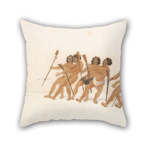The Oil Painting Thomas John Grant - War Dance Pillowcase Of 16 X 16 Inches / 40 By 40 Cm Decoration Gift For Floor Shop Lover Kids Room Kitchen Dance Room (two Sides)