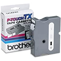 Genuine Brother 1 (24mm) White on Clear TX P-touch Tape for Brother PT-4000, PT4000 Label Maker