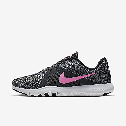Nike Women's Flex Trainer 8 Shoes (9, Anthracite/Sunset Pulse-Black-Cool Grey)