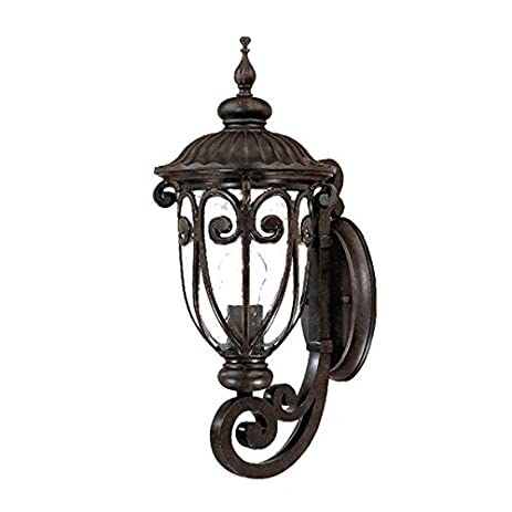 Acclaim 2101mm naples collection 1 light wall mount outdoor light fixture marbleized mahogany