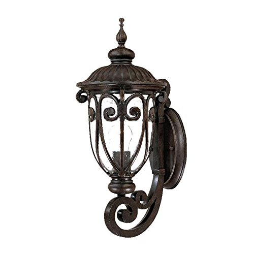 Acclaim 2101MM Naples Collection 1-Light Wall Mount Outdoor Light Fixture, Marbleized Mahogany Acclaim Lighting Naples Collection