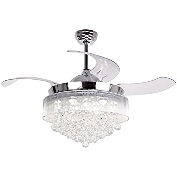 Rs Lighting European Crystal Ceiling Fan Light Kit 42
