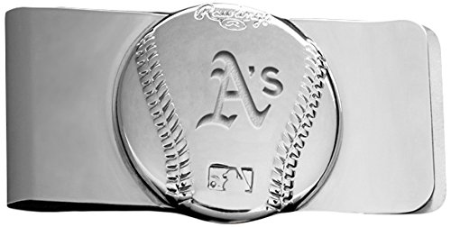 Rawlings Sports Accessories Wallet (MLB Oakland Athletics Engraved Money Clip)