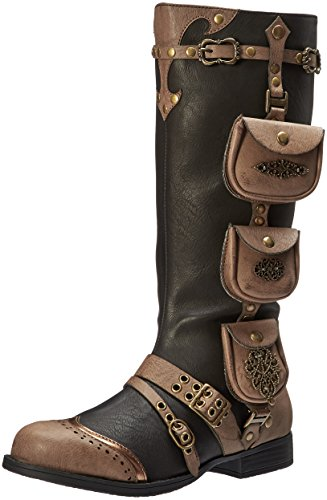 Ellie Shoes Women's 181-Silas Steampunk Boot, Black, 10 M US
